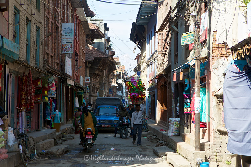 Streets of Kathmandu close to Durbar Square.