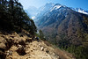 Stunning view of Kangtega as the trail drops down from Tengboche towards the river crossing on the way back to Namche Bazaar.