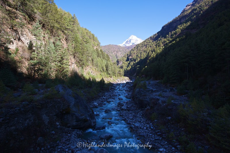 Yet another river crossing on the way to Namche Bazaar from Monjo and Jorsalle.