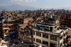 A view over Kathmandu from a rooftop restaurant at Durbar Square.
