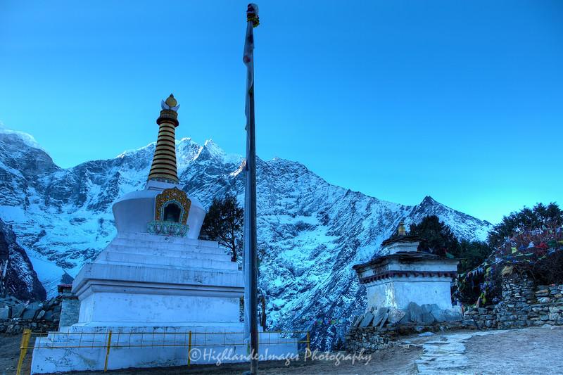 Buddhist stupa at Tengboche.