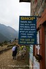 """Local shop on the trail from Lukal to Phakding selling a number of snack foods and importantly some """"camera films""""!"""