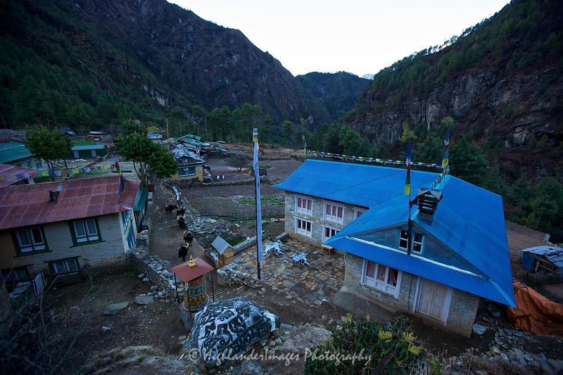 Dawn at Monjo before the trek to Namche Bazaar