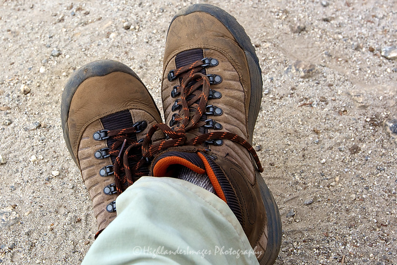 My Teva Forge Pro Mid Event LTR boots proved themselves on this tough trek - comfortable with excellent grip.