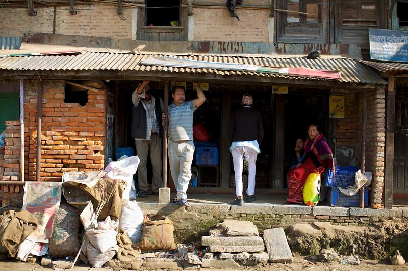 Street life in Bungamati.