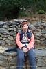 Kenny takes a break on the Lukla to Phakding trail