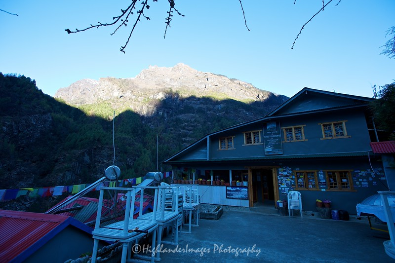 Mount Kailash Lodge where we stayed at Monjo before the trek to Namche Bazaar