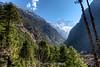 Stunning mountain views between Phakding and Lukla.