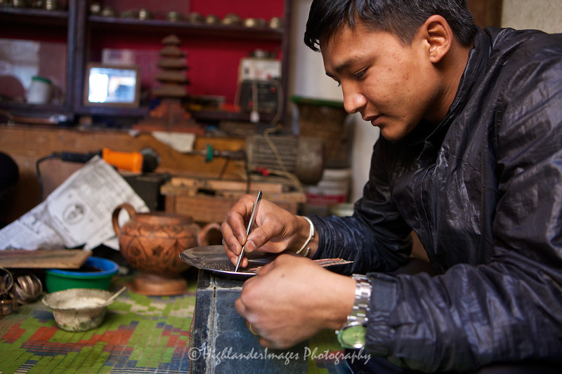 Local craftsman in Bungamati.