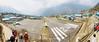 Panorama of the runway at Lukla Airport, Nepal