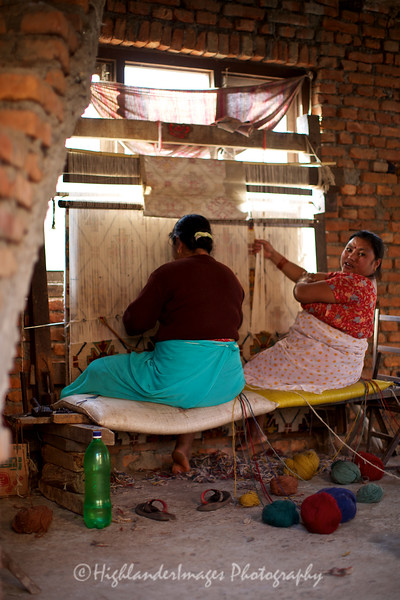 Weaving inside a house at Bungamati.