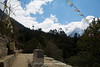 Arriving at Lukla which sits atop the next small rise.
