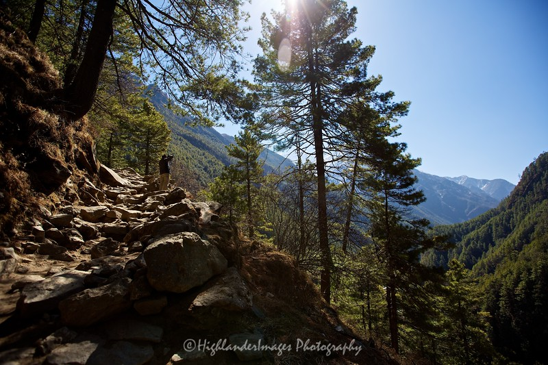 The steep path on the last section between Jorsalle and Namche Bazaar seemed to be never ending but the views were certainly worth the effort.