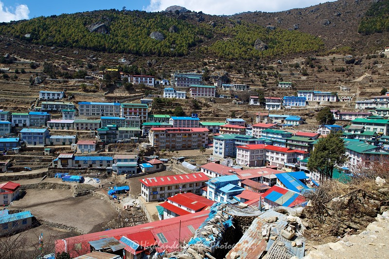 A view over Namche Bazaar.
