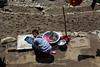 Washing chores at Namche Bazaar.