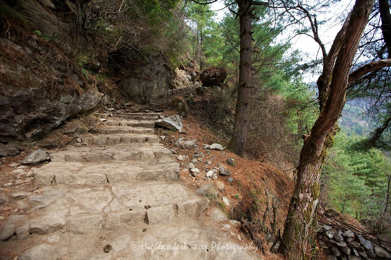 Steep steps on the trail between Phakding and Monjo - something we would be accustomed to in the coming days.