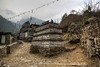 Mani stones between Koshigaun village and Phakding
