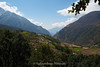 Terraced cultivated fields on the approach to Lukla from Monjo.