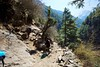 After the high suspension bridge it was a long and steep climb up to Namche Bazaar.