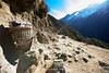 A porter's basket on the start of the trail from Namche Bazaar to Tengboche.