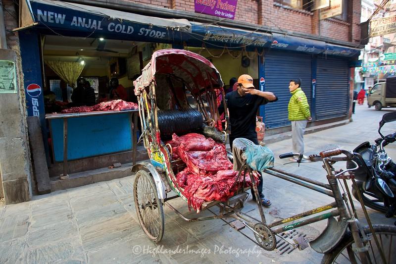 Rickshaw, Kathmandu, Nepal