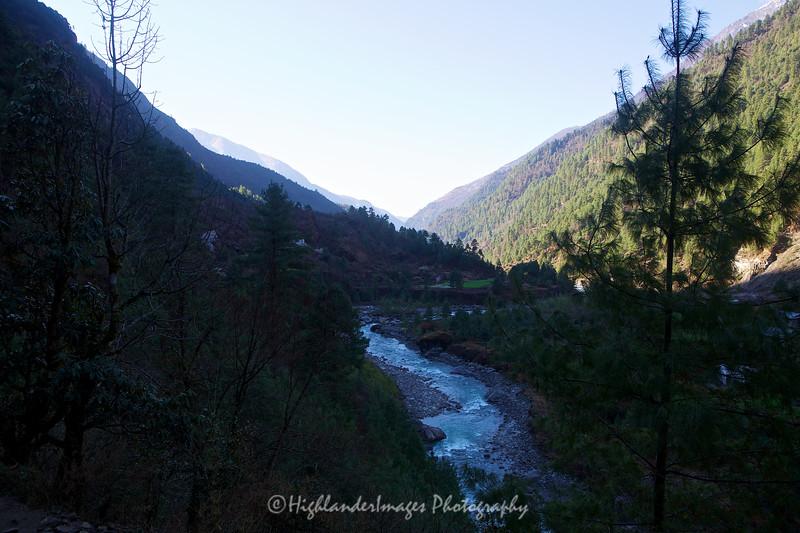 Looking down the Khumbu Valley as we trek from Phakding to Lukla.