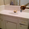 "Hall bath vanity ""before"""