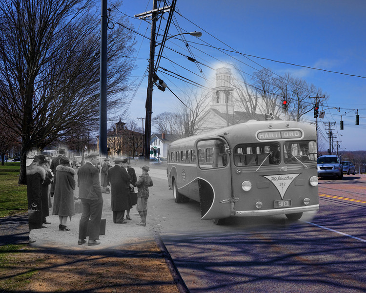 Window To The Past of Bus 242 to Hartford