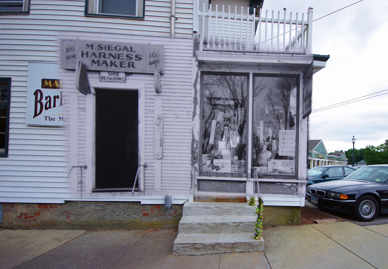 M. Siegal Harness Maker - Main Street, Colchester CT.  November 1940 mixed with July 2012.