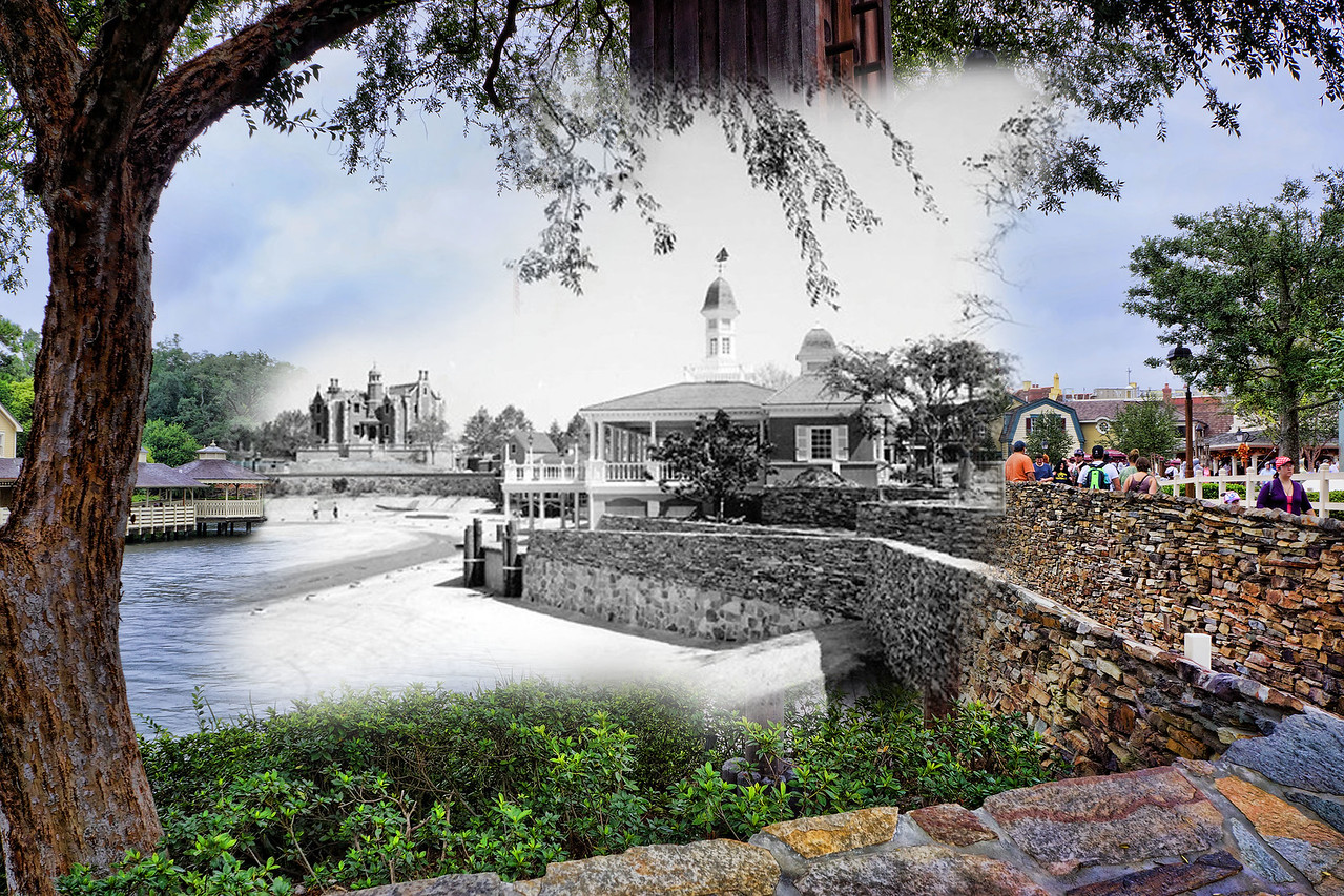 Disney's Haunted Mansion and Riverboat Dock - Under Construction