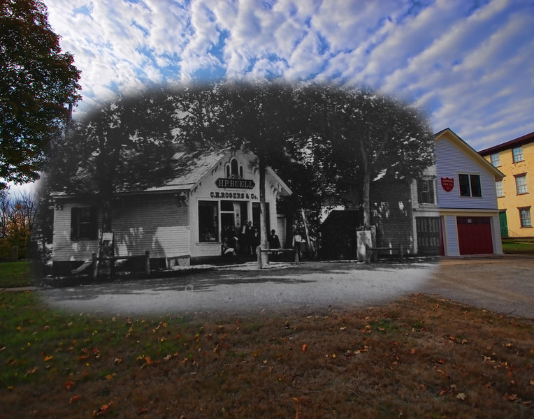 H.P. Buelle in the 1940's mixed with October, 2012. (Colchester, CT)