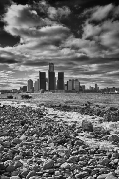 Detroit Skyline from Windsor HDR