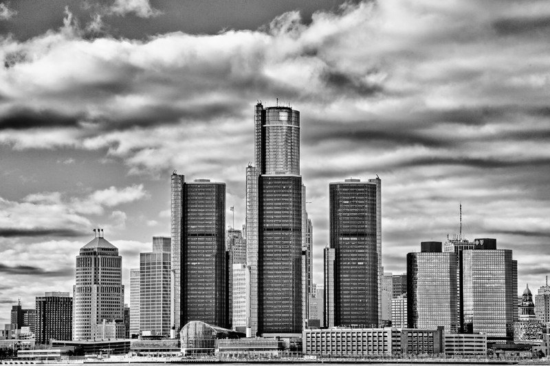 Detroit Skyline HDR