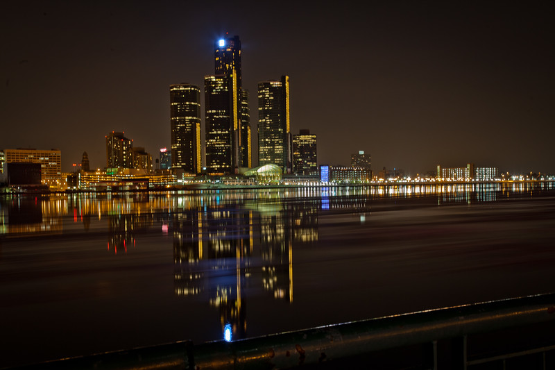 Detroit Skyline - Nightshot