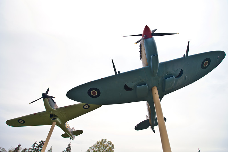 Hurricane Spitfire planes