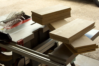 """All of the drawer boxes are made out of 1/2"""" plywood."""
