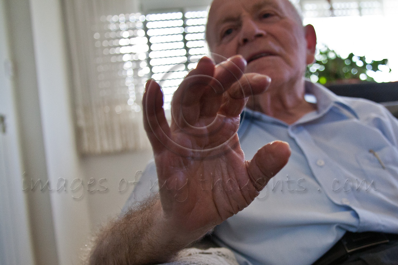 Yosef Kleinman, 82, Auschwitz-Birkenau, Dachau-Kaufering, survivor, is immersed in the events that shook his life. He seizes every opportunity to tell his personal story so that others will never forget. Jerusalem, Israel. 17-Apr-2012.