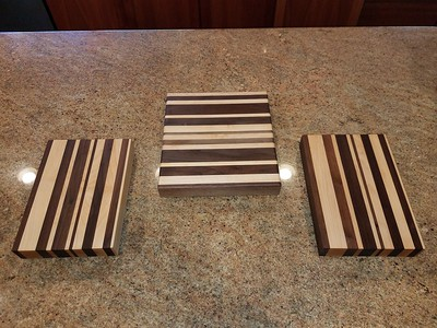 Walnut and  Maple Cutting boards
