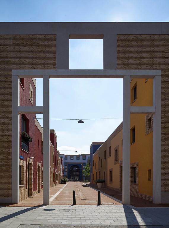 Vola Galvani. Sociale woningbouw Eindhoven. Geurst en Schulze architecten.