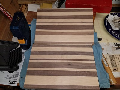 Finished product - 1.75 in. Walnut & Maple cutting boards