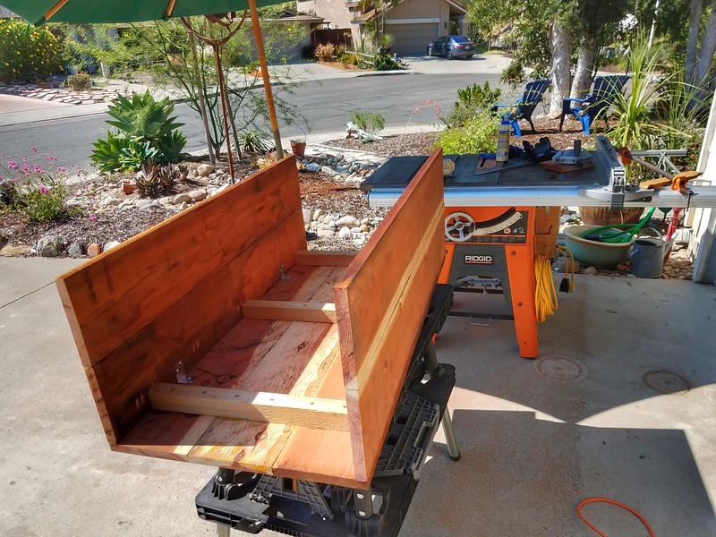 Redwood Planter box - in the beginning