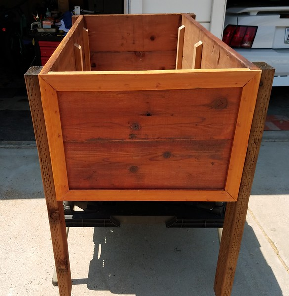 Redwood Planter box - End trim pieces