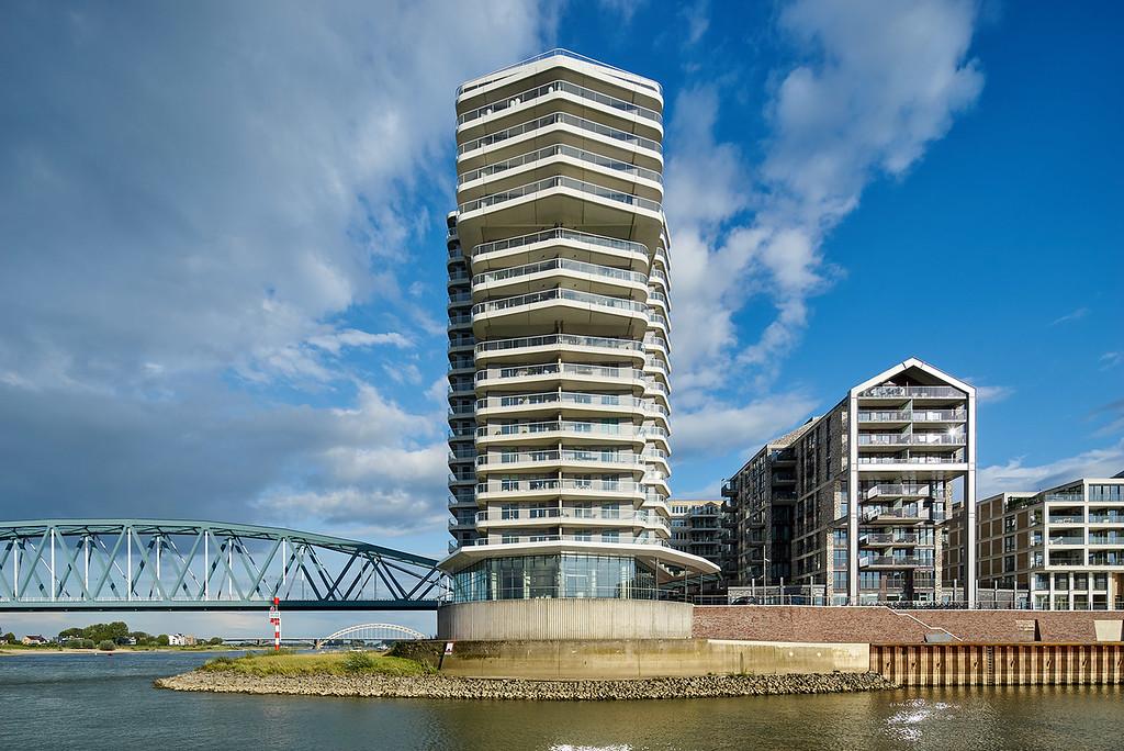 Woongebouw De Lunet, Handelskade Nijmegen. VYA architecten.