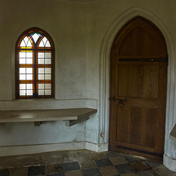 Interior room, tiled floor