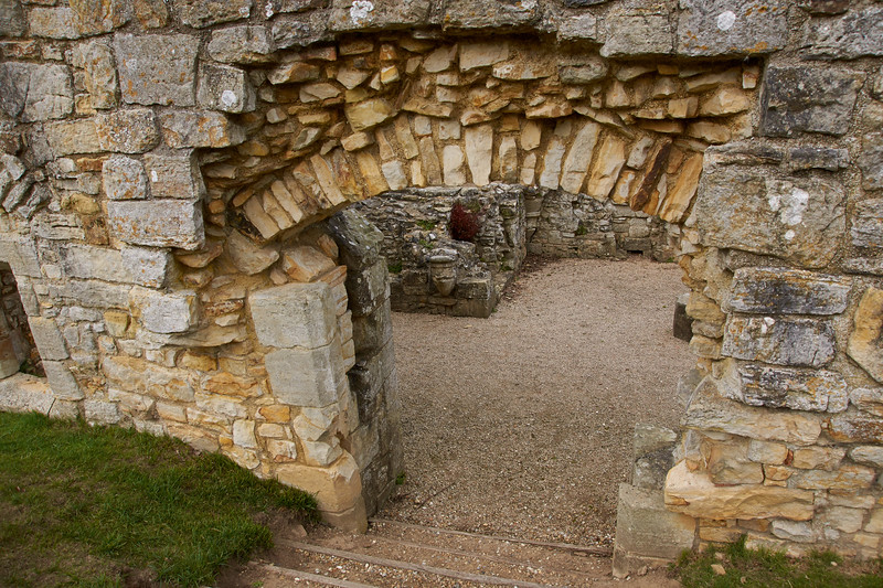 Entry to the frater undercroft