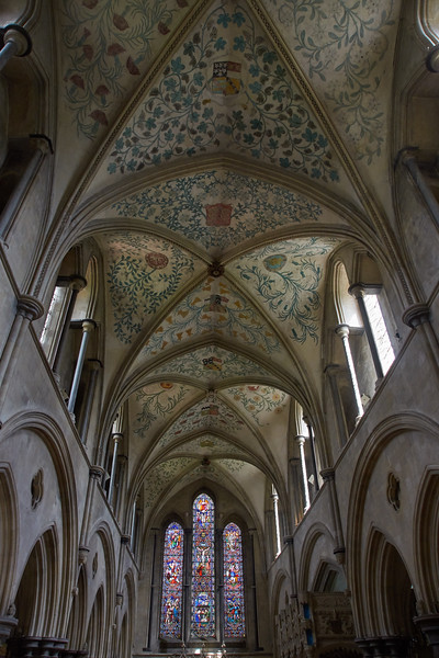 Nave showing detail of painted Ceiling
