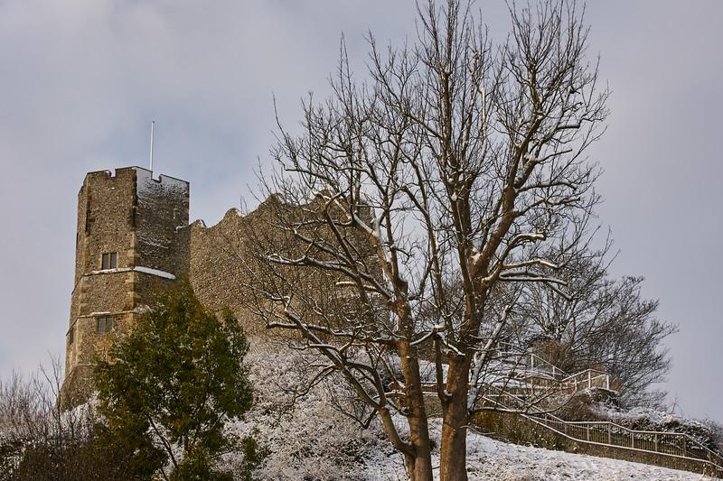 Lewes Castle Keep, Winter