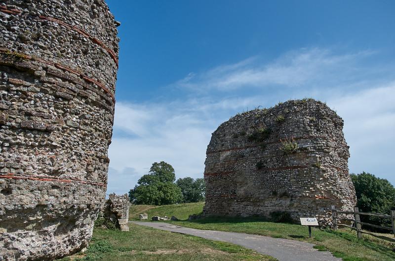 Main Gate of Pevensey Roman Fort