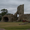 Pevensey Castle Wall and Cannon