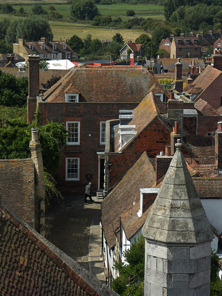 View from St Marys Church Tower towards Lamb House